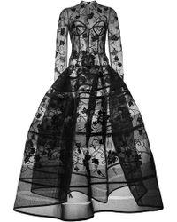 Oscar de la Renta - Abendkleid mit floraler Stickerei - Lyst
