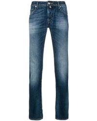 Jacob Cohen - Stonewashed Straight Jeans - Lyst