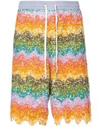 Ashish - Wave Beaded Bermuda Shorts - Lyst