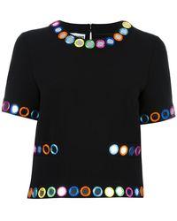 Moschino - Embellished Shortsleeved Blouse - Lyst