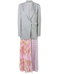Natasha Zinko - Printed Pleated Skirt Blazer - Lyst