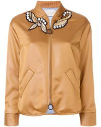 Marco De Vincenzo - Embroidered Bomber Jacket - Lyst