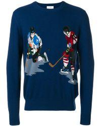 Ballantyne - Ice Hockey Intarsia Knit Sweater - Lyst