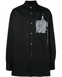 f9dbf36e15 Lyst - Raf Simons Laurie Anderson-print Stretch-cotton Shirt in ...