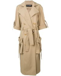 Balmain - Double Breasted Trench Coat - Lyst