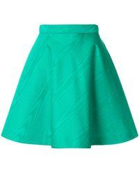 MSGM - High-waisted Skater Skirt - Lyst