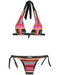 Amir Slama - Embroidered Bikini Set - Lyst