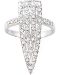 V Jewellery - 'royal Sword' Ring - Lyst