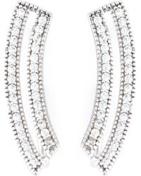V Jewellery - Contour Loop Earrings - Lyst