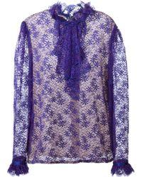 Guy Laroche - Ruffled Lace Shirt - Lyst