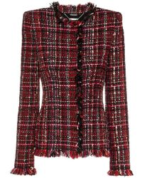 Alexander McQueen - Tailored Tweed Long Sleeve Jacket - Lyst