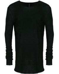 Poeme Bohemien - Chest Pocket Knitted T-shirt - Lyst