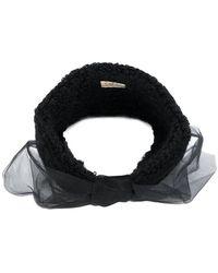 CA4LA - Mesh Bow Embroidered Headband - Lyst