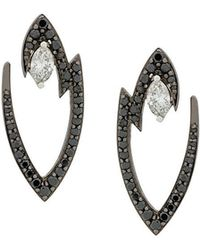 Stephen Webster | 18kt White Gold Lady Stardust Marquise Diamond Earrings | Lyst