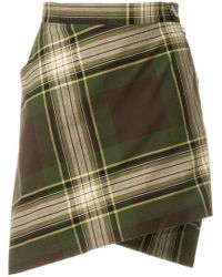 Vivienne Westwood Anglomania - Checked Wrap Skirt - Lyst