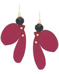 Marni - Leather Hanging Earrings - Lyst