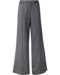 Strateas Carlucci - Striped Flared Trousers - Lyst