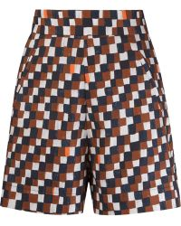 Andrea Marques - Geometric Print High-waisted Short - Lyst