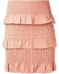 DROMe - Textured Skirt - Lyst