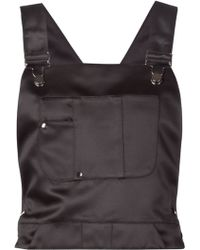 KOONHOR - Satin Dungaree Top - Lyst