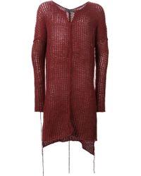 Cedric Jacquemyn | Long Open Knit Sweater | Lyst