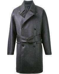 Thamanyah - - Waxed Effect Trench Coat - Men - Polyurethane/cupro/cashmere/wool - 46 - Lyst