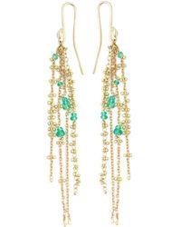 Natasha Collis - 'waterfall Emerald Pin' Earrings - Lyst
