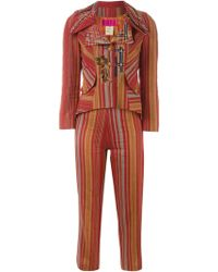 Christian Lacroix - Striped Two Piece Suit - Lyst