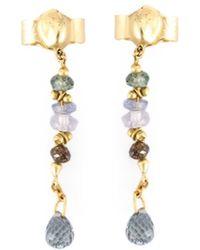 Natasha Collis - Sapphire And Brown Diamond Drop Earrings - Lyst
