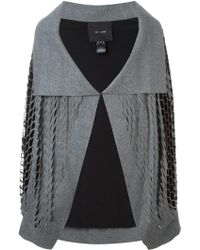 Jay Ahr - - Cut-out Detail Cape - Women - Polyester/wool - 34 - Lyst