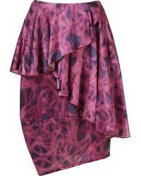 Fernanda Yamamoto - Asymmetric Printed Skirt - Lyst