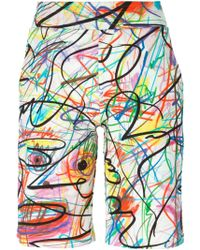 Jeremy Scott - Scribbled Shorts - Lyst