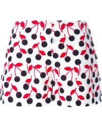Giamba - Cherry Embroidered Shorts - Lyst
