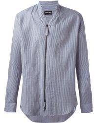 Giorgio Armani - Zipped Striped Shirt - Lyst