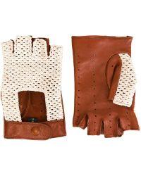 Etro - Crochet Detail Fingerless Gloves - Lyst