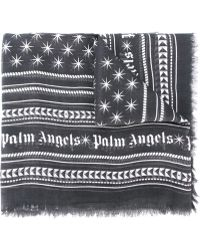 Palm Angels - Frayed Printed Scarf - Lyst