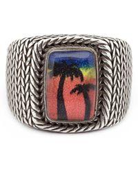 Saint Laurent - 'eighties Hawaii' Signet Ring - Lyst