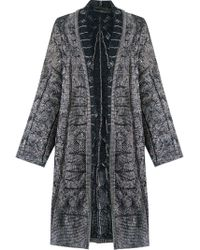 Cecilia Prado - Open Front Knitted Cardi-coat - Lyst