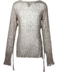 Cedric Jacquemyn - Long-sleeved Sidetape Sweater - Lyst