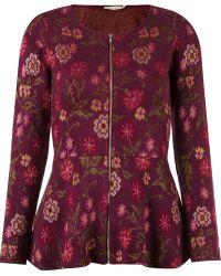 Cecilia Prado - Tricot Floral Jacket - Lyst