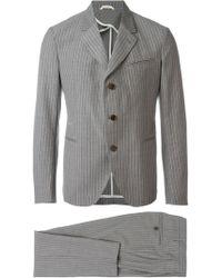 Al Duca d'Aosta - Double Piece Single Breasted Pinstriped Suit - Lyst