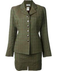Alaïa - Checked Skirt Suit - Lyst