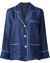 Erika Cavallini Semi Couture - Piped Trim Pyjama Shirt - Lyst