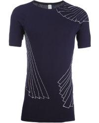 Sàpopa - String Print Fitted T-shirt - Lyst