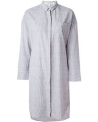 Valentine Gauthier - Striped 'bedouin' Oversized Shirt Dress - Lyst