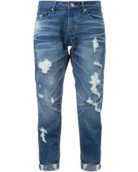 Guild Prime - Distressed Cuffed Skinny Jeans - Lyst