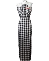 Forte Couture - Lace Panel Checked Shirt Dress - Lyst