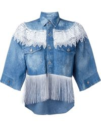 Forte Couture - Fringed Denim Shirt - Lyst