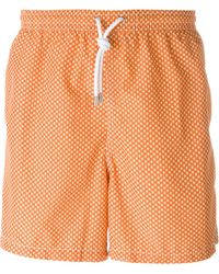 Kiton - Snowflake Print Swim Shorts - Lyst