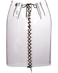 Sibling - Transparent Lace-up Skirt - Lyst